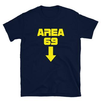 Blue Solar Opposites Inspired - Area 69 Sci-Fi Dick Joke Blow Job T-Shirt