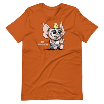 Orange Gremlins No Water 3 Rules - Gizmo's Bath Time Live Dangerously Swimming Rubber Ducky T-Shirt