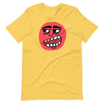Yellow Smug Sam Cartoon Monster - Snarky Sass Mouth T-Shirt