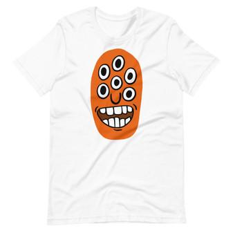White Excited Eddie Cartoon Alien/Monster - Hyper Focused T-Shirt