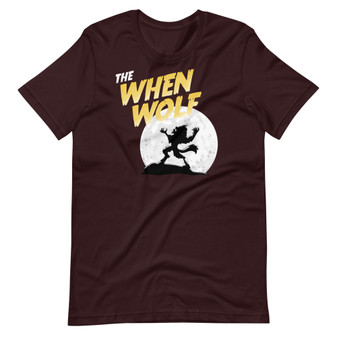 Oxblood Black Rick and Morty The When Wolf Werewolf Interdimensional Cable Funny Halloween Joke T-Shirt