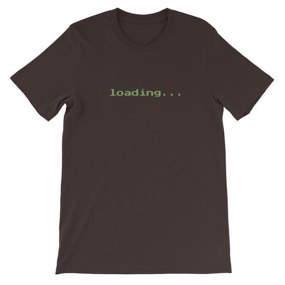 Brown Gamer Nerd Coding Loading Page Unisex T-Shirt