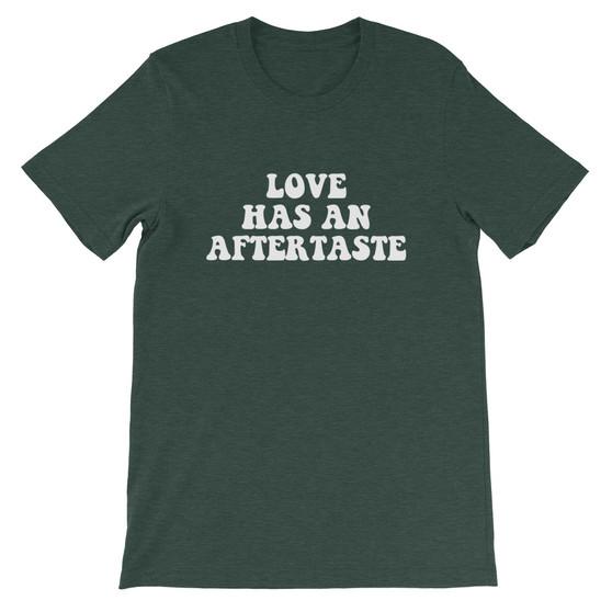 "Black Joke ""Love Has an Aftertaste"" Unisex T-Shirt"