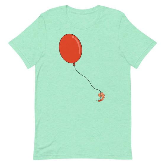 Light Green Bob's Burgers Louise Makes It Rain Shrimp Balloons Fresh Feed Shrimp Joke T-Shirt