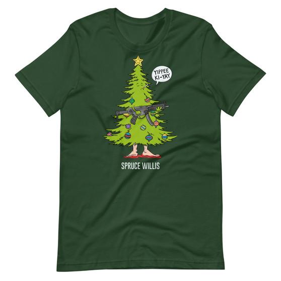 Die Hard Christmas Movie Mashup - Spruce Willis Tree T-Shirt