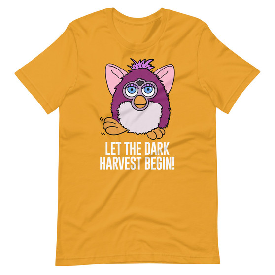 Yellow The Mitchells vs. The Machines Furby Inspired - Let The Dark Harvest Begin T-Shirt Evil Furby