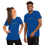 Male and Female wearing Royal Blue Gamer Nerd Coding Loading Page Unisex T-Shirt