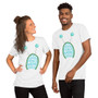 Male and Female Black Rick & Morty T-Shirt It Means Peace Among Worlds Alien Antenna Unisex T-Shirt