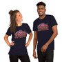 Man and Woman Wearing Camp Flabanabba Rick & Morty Inspired Unisex T-Shirt