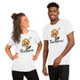 """Man and Woman Wearing Dirty Insult With Disney Twist """"TwatWaffle"""" Unisex T-Shirt"""
