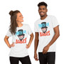 Man and Woman Wearing Bill And Ted Inspired Party On Dudes Abe Lincoln Funny Party T-Shirt