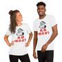 Man and Woman wearing Christmas Holiday Sassy Ghetto Funny Badass Santa Ho, No You Didn't Unisex T-Shirt