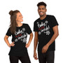 Man and Woman Wearing Christmas Rape Song Inspired - Baby It's Cold Outside - Joke - Baby I'm Dead Inside - Unisex T-Shirt