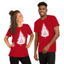 Man and Woman Wearing Christmas Tree Sappy Joke I'm A Sap For The Holidays T-Shirt