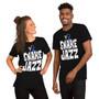 Man and Woman Wearing Rick and Morty Fan Snake Jazz Rattlestar Ricklactica Season 4 Unisex T-Shirt