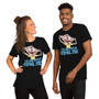 Man and Woman Wearing Rick and Morty Personal Space Commercial Interdenominational Cable - Stay Away From My Personal Space Guy Ripping Off Skin on Unisex T-Shirt