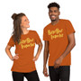 Man and Woman Wearing Harry Potter and Solar Opposites Terry Inspired - Butterbeer Inspector - Here For Butterbeer T-Shirt