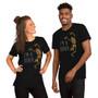 Man and Woman Wearing Halloween Skeleton Boner Joke - I'm A Boner - Dick Joke Dancing Skeleton T-Shirt