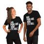 Man and Woman Wearing Bad Dad Joke - Bad Puns Are How Eye Roll - Cheesy Joke Funny Punny T-Shirt