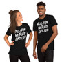 Man and Woman Wearing Bob's Burgers Louise Belcher - Hell Hath No Fury Like I Do - Bitch Fear Me You've Been Warned T-Shirt