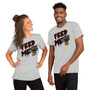 Man and Woman Wearing Little Shop Of Horrors - Feed Me Blood Audrey II Flytrap - Feed Me Funny Hungry Girl T-Shirt
