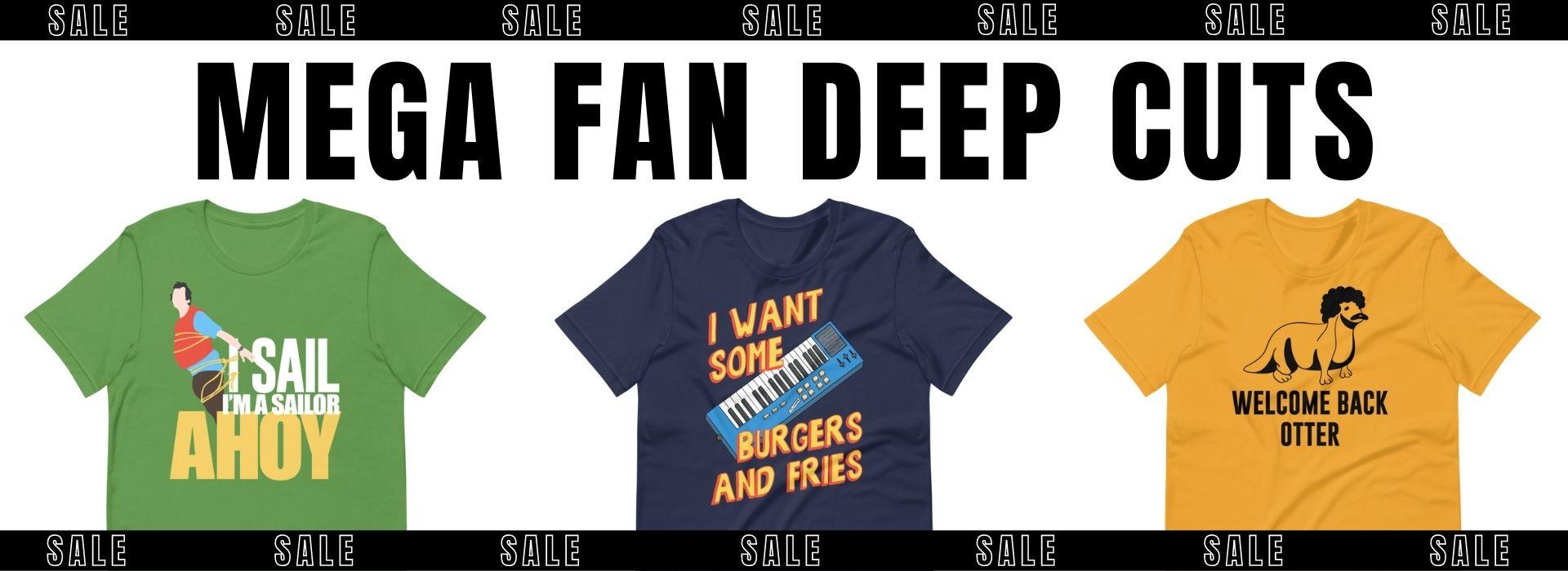 CultSub T-Shirts Movies TV Music Fan T-Shirt Sale Handmade Designs