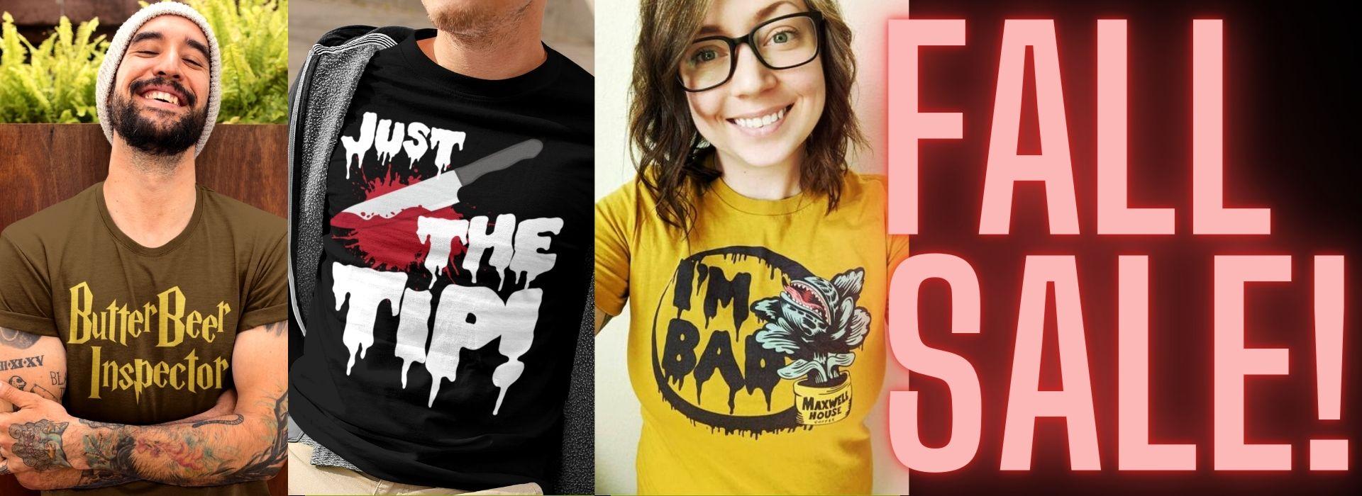 Culture Sub T-Shirts Halloween Fall Sale Movies TV Music