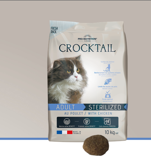 Flatazor Crocktail Adult Sterilized/Light with Chicken 10kg