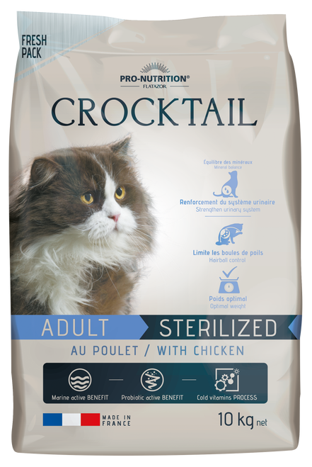 Flatazor Crocktail Adult Sterilized/Light with Chicken 10kg