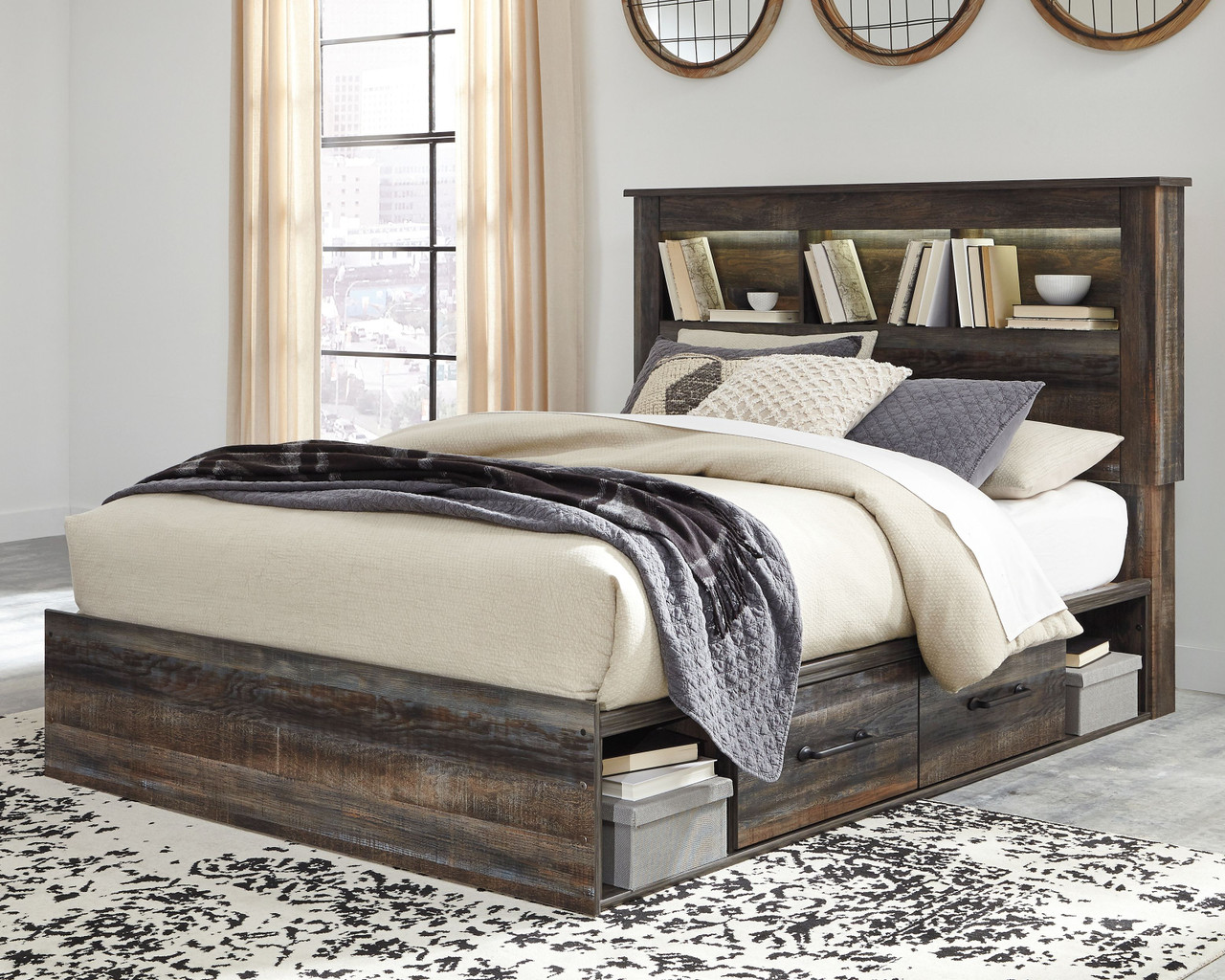 Picture of: Drystan Multi Queen Bookcase Bed With Under Bed Storage On Sale At American Furniture Of Slidell Serving Slidell La