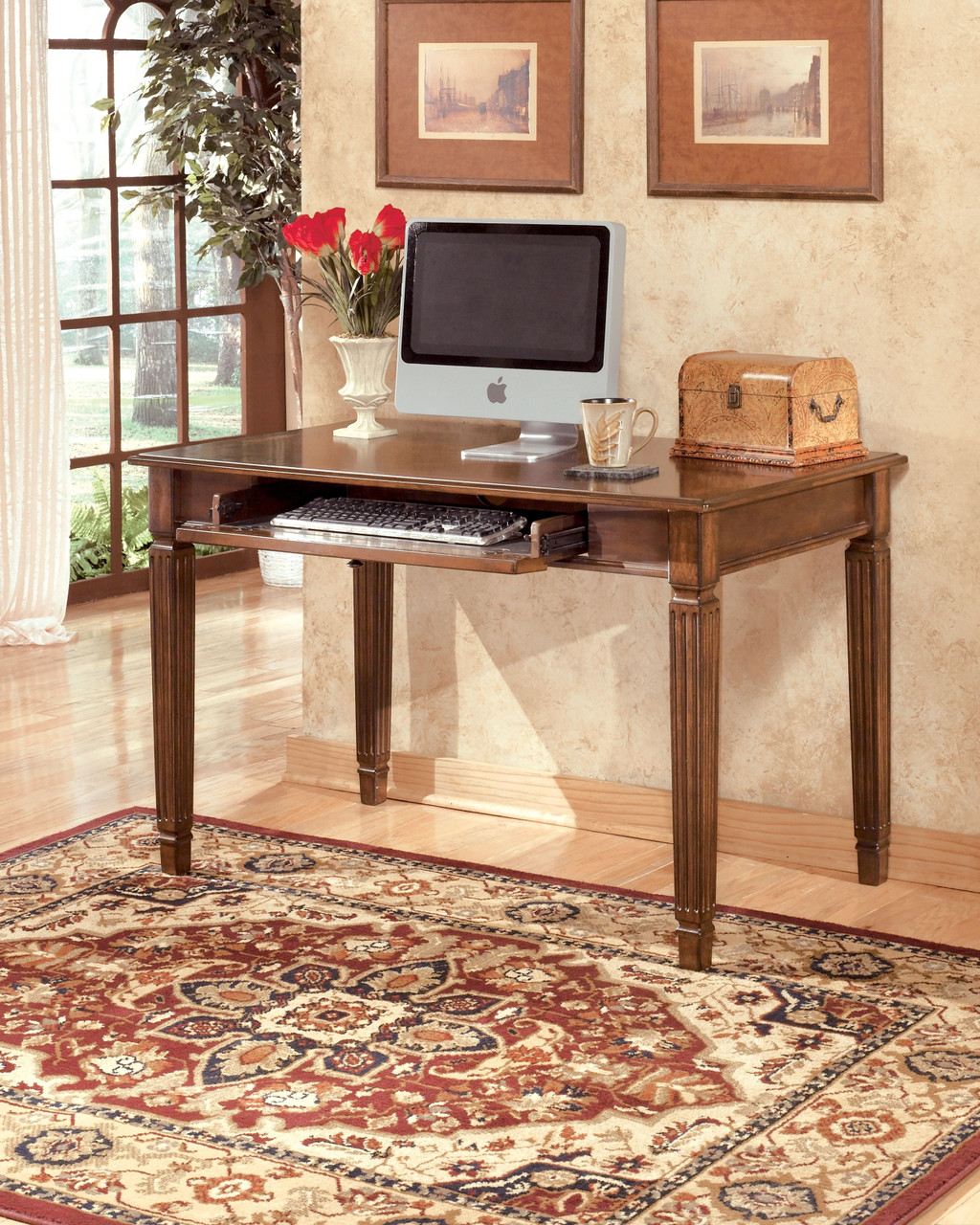 Hamlyn Medium Brown Home Office Small Leg Desk On Sale At American Furniture Of Slidell Serving Slidell La