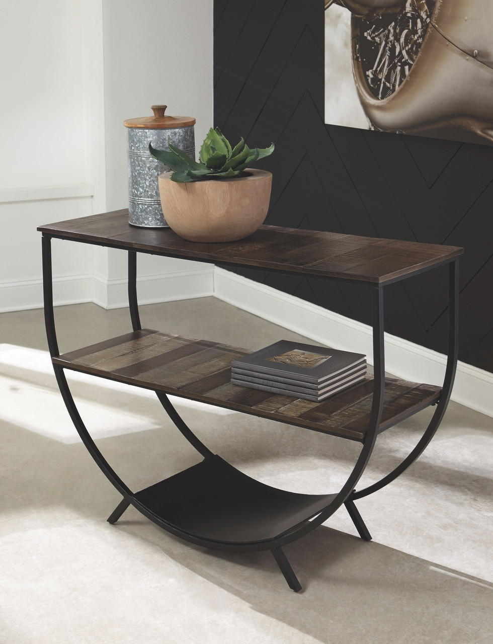 Lamoney Gray White Brown Console Sofa Table On Sale At American Furniture Of Slidell Serving Slidell La