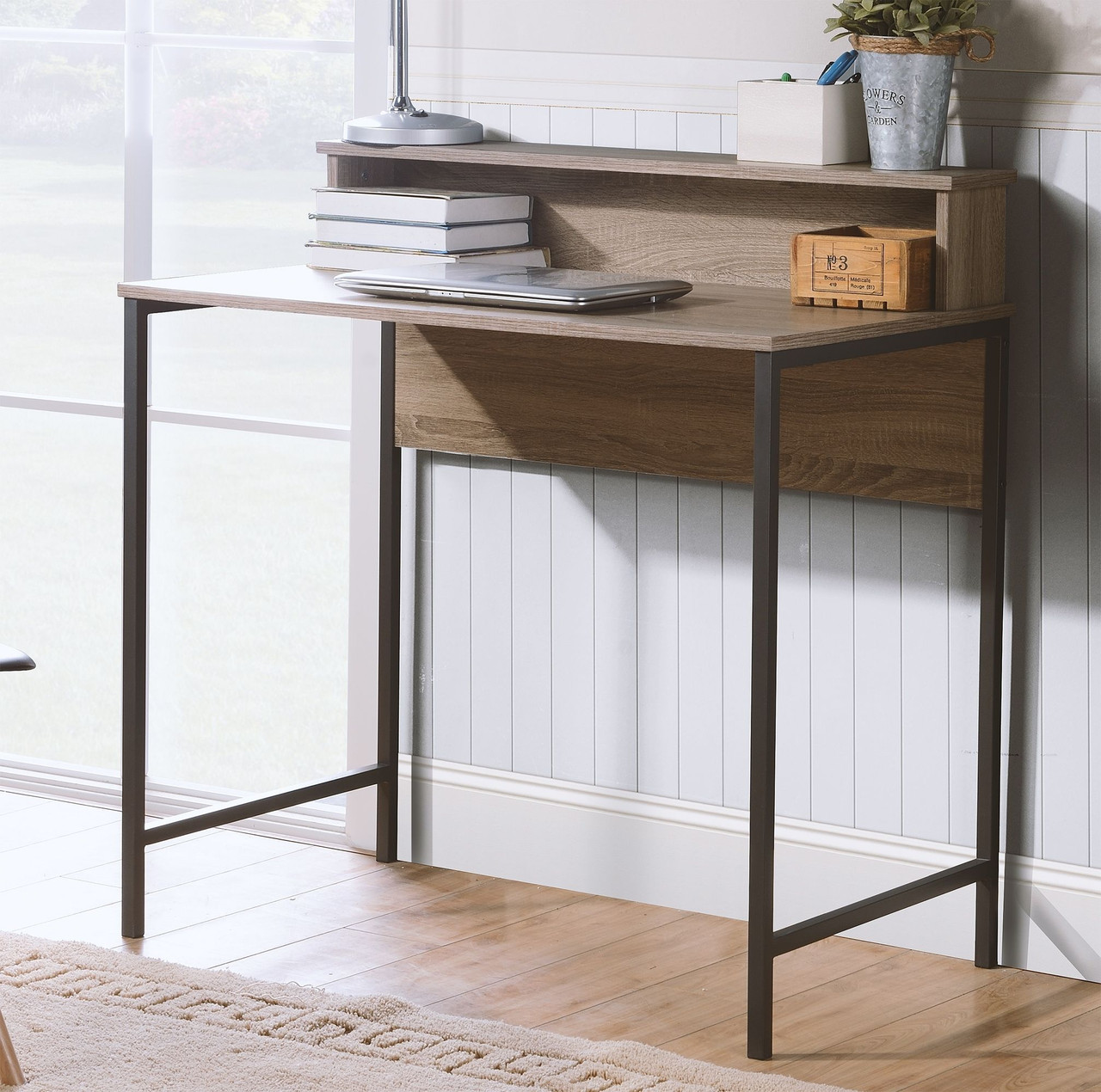 Titania Grayish Brown Home Office Small Desk On Sale At American Furniture Of Slidell Serving Slidell La