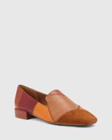 Alita Multi Patchwork Leather Square Toe Loafer.
