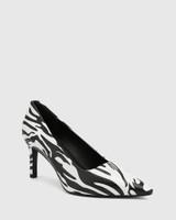 Phoenix Zebra Print Leather Stiletto Heel
