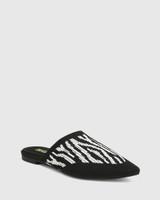 Picnic Zebra Print Recycled Knit Mule