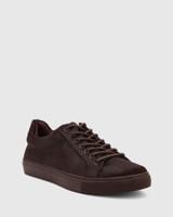 Barker Plum Hair-On Leather Sneaker.
