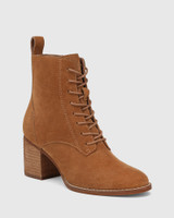 Keller Tobacco Suede Lace Up Ankle Boot
