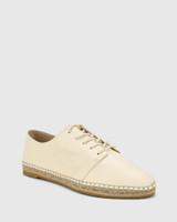 Ellam Buttercream Leather Espadrille Sneaker.
