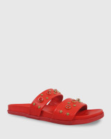 Kit Red Leather Red Diamonte Flat Slide.