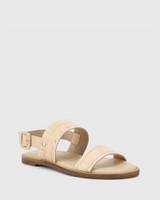 Chastity Honey Croc-Embossed Leather Sandal