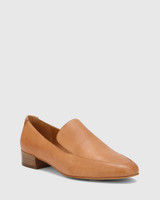 Chia Tan Leather Round Toe Loafer.