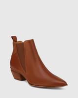 Starr Brandy Leather Western Chelsea Boot