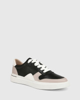Slater Black with Stone and White Leather Sneaker
