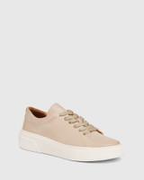 Saga Blush Leather Lace Up Sneaker
