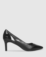 Dewan Black Patent Leather Stiletto Heel.