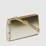 Leone Platinum Metallic PU Handbag