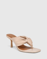 Contigo New Flesh Leather Stiletto Heel Sandal