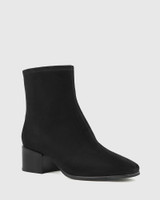 Olyvier Black Suede Leather Ankle Boot