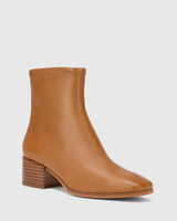 Olyvier Tan Leather Ankle Boot